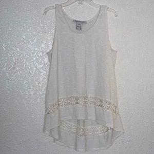 American Rag layering boho lace tank size M